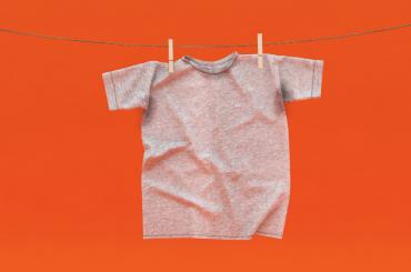 Tshirt hanging on clothesline