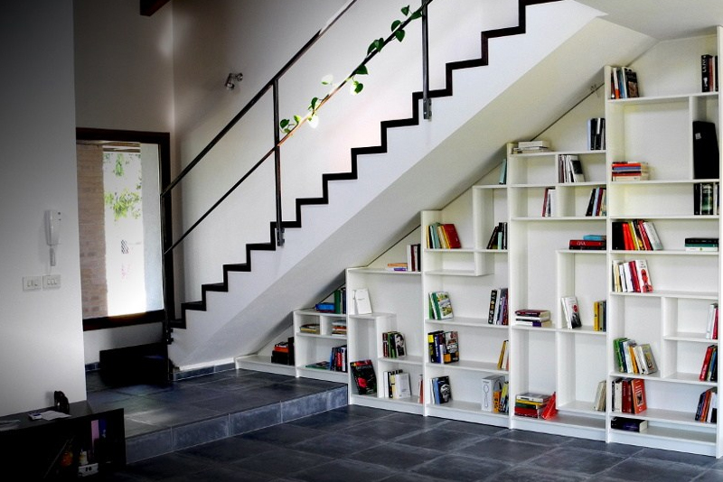 Design Idea #3 - Staircase Bookcase