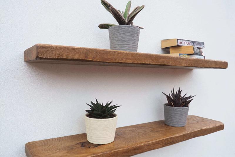DIY Furniture Floating Shelves