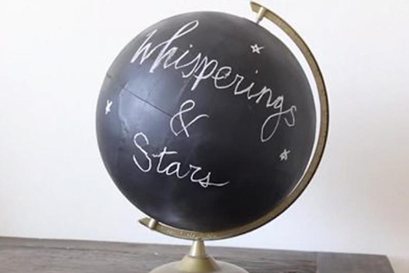 DIY Room Decor Tip #4 - Chalkboard Globe DIY