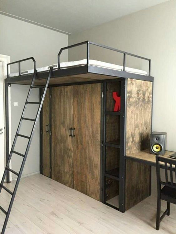 How To Build A Loft Bed - Step 5- Attach The Rails