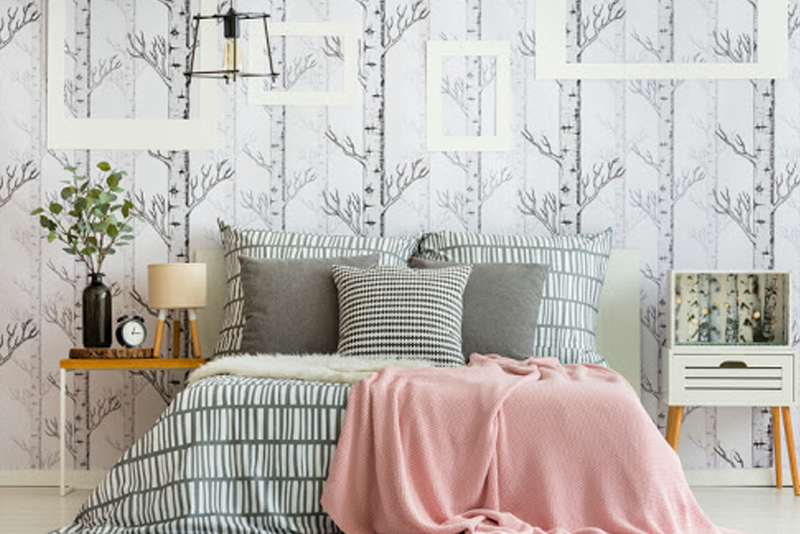 How To Decorate A Bedroom - Statement Wallpaper